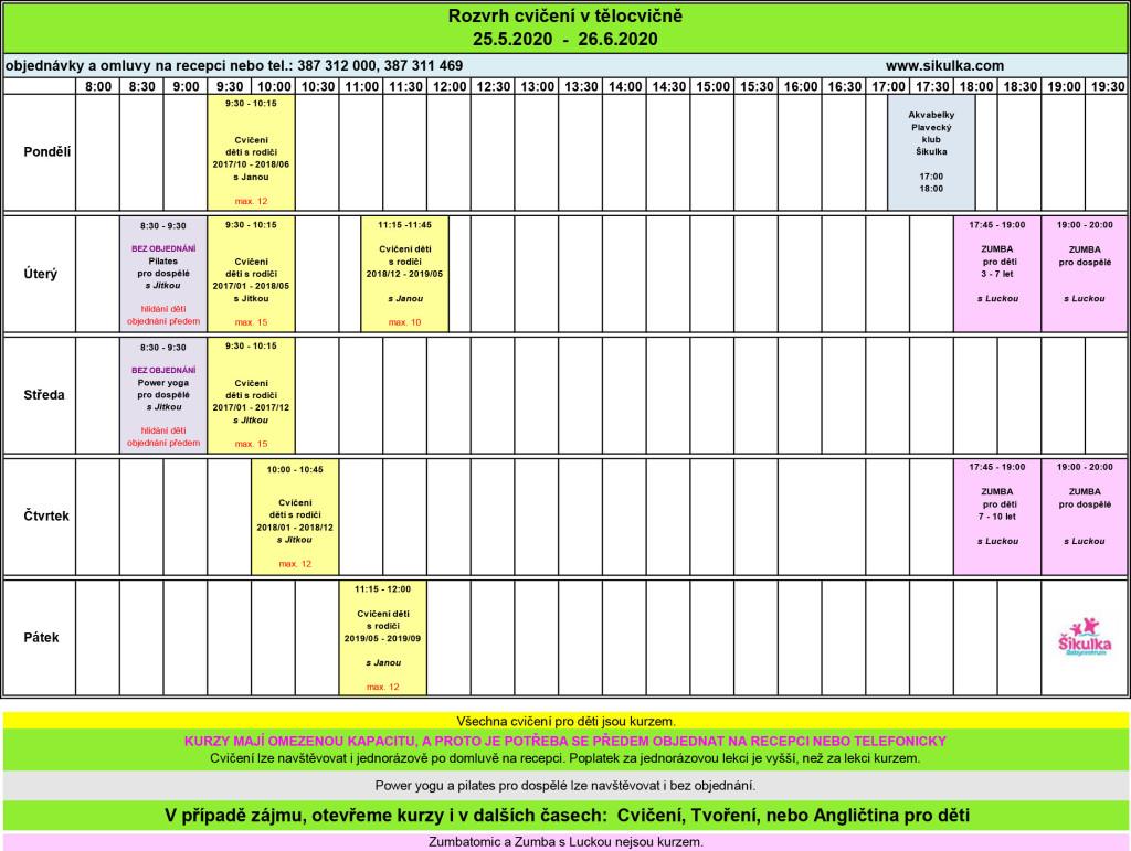 tělocvična+rozpis NA WEB květen - červen