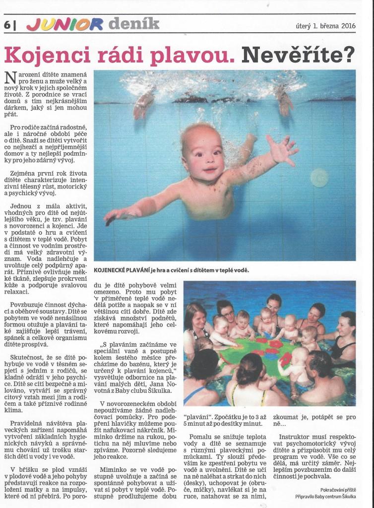 clanek plavani