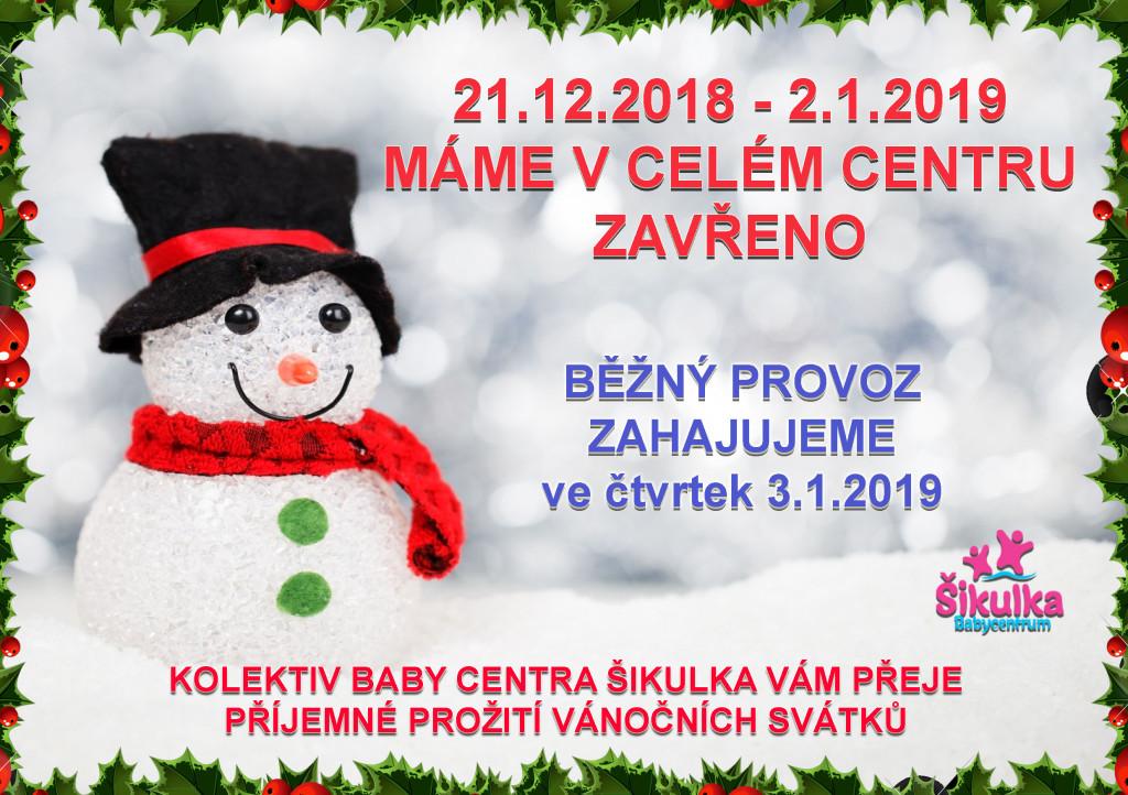 vánoční otevíračka 2018