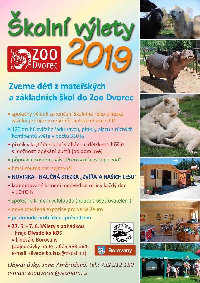 školní výlety 2019
