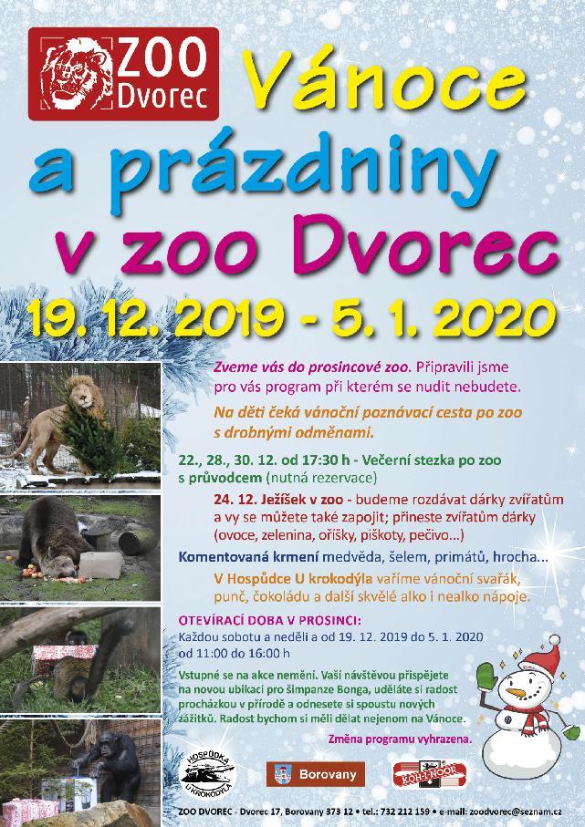 Vánoce v zoo 2019
