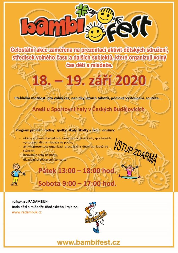 Pozvánka BAMBIFEST 18.-19.9.2020