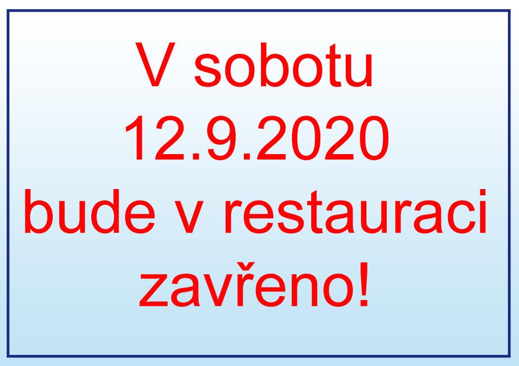 zavřeno v restauraci