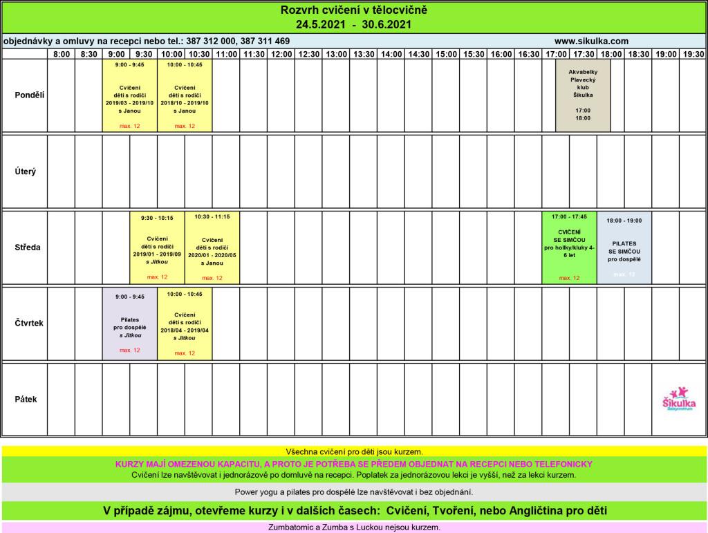 tělocvična+rozpis NA WEB uprava